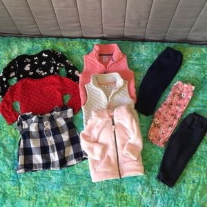 Lot of 9 Carter's girls 6-9 month pieces